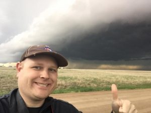 Shelfie! This me standing in front of a great looking shelf cloud in Spring 2016.